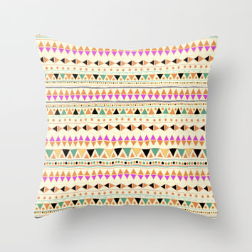INDIE SUMMER Throw Pillow by Nika | Society6