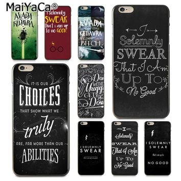 MaiYaCa Avada Kedavra Harry Potter Bitch I Solemnly Swear That  Phone  Case for iPhone 8 7 6 6S Plus X 10 5 5S SE 5C Coque Shell