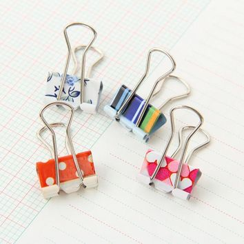 24Pcs/set Kawaii Small Little fresh printing Paper Binder Clips Photo Holder Office Accessories Clips Gift Accessoires 4*1.9cm