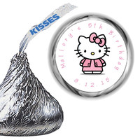 Hello Kitty Mint Hershey Kiss Labels Personalized Favors