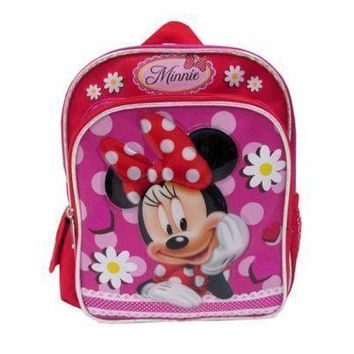 "Disney Junior Minnie Mouse Red Flowers Girl's 10"" Backpack"