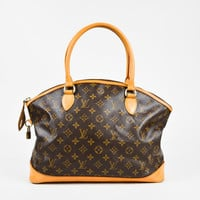 "Louis Vuitton Brown Monogram Coated Canvas ""Horizontal Lockit"" Bag"