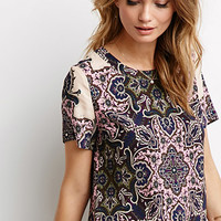 Abstract Paisley Boxy Top