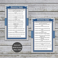 Boy Baby Shower Games Boy Printable Baby Shower Discovery Game Instant Download Digital Files PDF (57b)