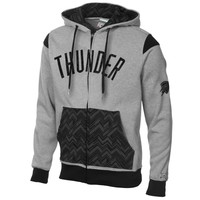 Oklahoma City Thunder Mayweather Fleece Full Zip Hoodie - Gray/Black