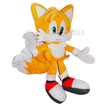 "New Sonic the Hedgehog Tails Ultimate Flash Anime Fox Plush Toys 20CM 8""Fox Stuffed Animal Kids Doll Gift Soft Toys For Children"