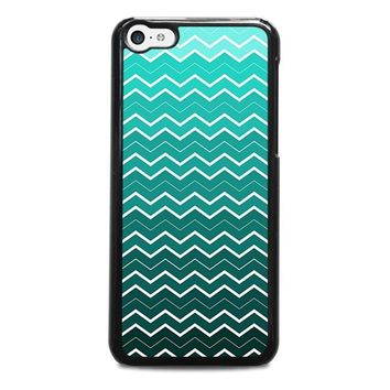 ombre teal chevron pattern iphone 5c case cover  number 1