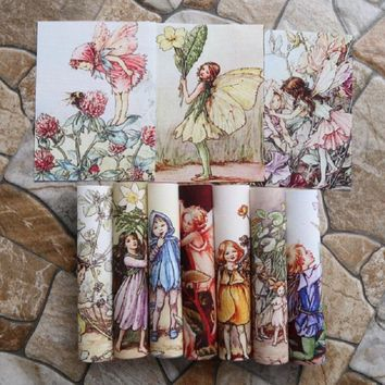 flower girl digital printing Hand dyed painting Cotton Canvas Fabric Patchwork Tissu for Sewing Bag Cushions DIY Handmade Fabric