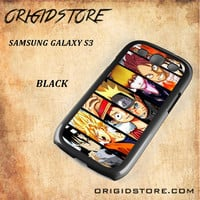 Naruto Son Goku Luffy Ichigo Vongola Natsu One Piece Bleach Fairy Tail Soul Eater Kid Snap on 2D Black and White Or 3D Suitable With Image For Samsung Galaxy S3 Case