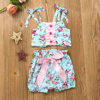 Toddler Baby Girls Floral Print Bikini Suit Swimsuit Swimwear Bathing Clothes 2017 New Activing  M23X18