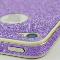 shego shopping mall — Purple Rhinestone Full Body Cover Skin Sticker Shield For iPhone4/4S/5