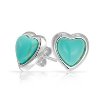 Bling Jewelry Chic Turquoise Studs