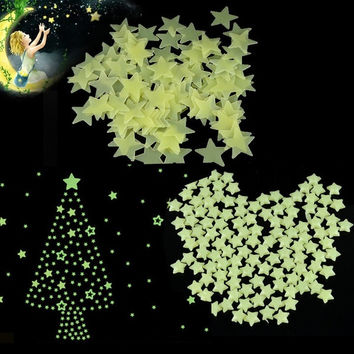 Glow in the Dark Star Luminous Decal Wall Stickers Baby Kids Home Room DecOR D_L = 1708652676