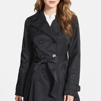 Women's Laundry by Shelli Segal Double Breasted Trench Coat