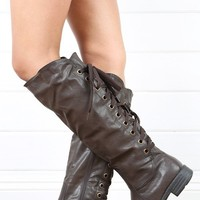 Outlaw Brown Lace Up Boots