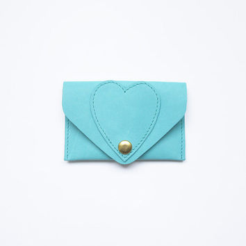 Heart Leather Card Case