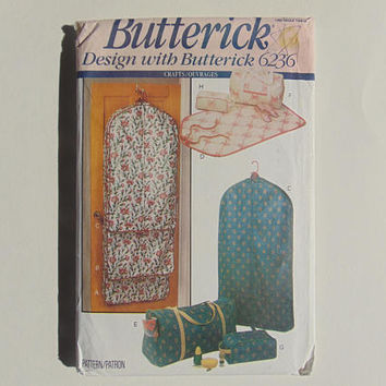Butterick 6236 Garment Bags, Totes and Accessory Cases Sewing Pattern UNCUT