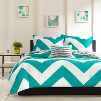 Walmart: Home Essence Apartment Leo Bedding Comforter Set, Blue