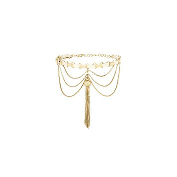 Down the Spiral Staircase Choker in Cream and Gold