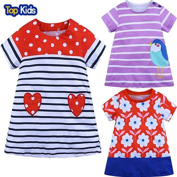 Princess Costume Baby Gift Dress Summer Girls Tunic Dress Kids Clothing Kids Tales Cotton Children Dresses