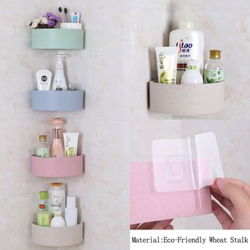 Fashion Bathroom Holder Kitchen Storage Shelf Home Accessories Shower Rack Organizer Shelf