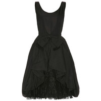 1950's Black Taffeta Bubble Cocktail Dress