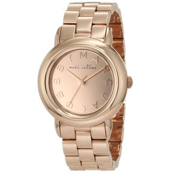 Marc by Marc Jacobs MBM3099 Women's Marci Rose Gold Tone Stainless Steel Gold Dial Quartz Watch