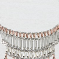 AEO Women's Tiered Statement Necklace (Mixed Metal)