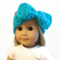 "Blue Doll Headband 18"" Doll Clothes"