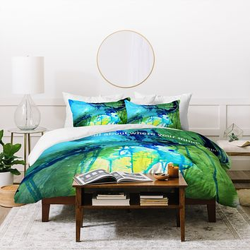 Deb Haugen Slater Quote Duvet Cover