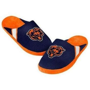 CREYON NFL Chicago Bears Jersey Slippers [Men's Small - Size 7-8 US]