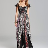 Free People Maxi Dress - Wild Hearts Printed