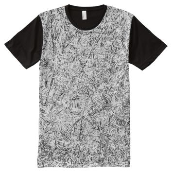 Willow tree leaves. Abstract art of Nature All-Over-Print Shirt