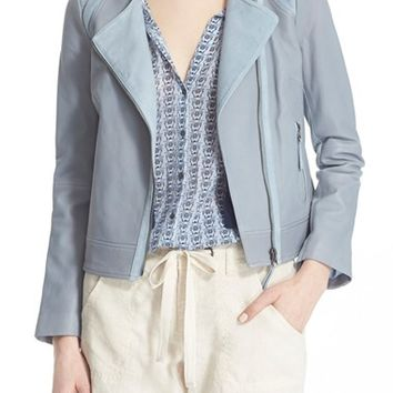 Joie 'Fifi' Laced Detail Leather Jacket | Nordstrom