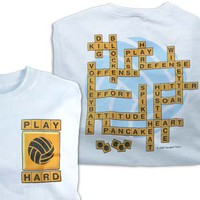 Tandem Volleyball Word Play Volleyball T-Shirt - Volleyball.Com