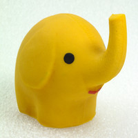 Yellow Elephant, Elephants, Bathroom Toys Colorful, Rubber Toy, a Soviet Vintage, 1970's, Soviet Toy, Russian Toy