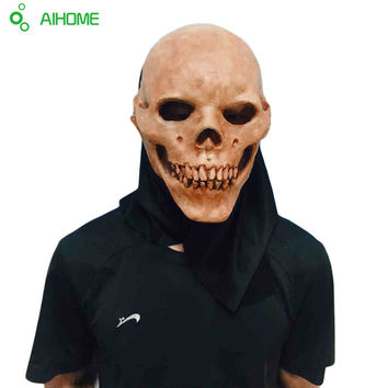 Horrifying Skull Monster Adult Latex Masks Full Head Masquerade Fancy Dress Party Cosplay Costume Scary Mask For Halloween