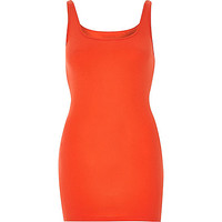 River Island Womens Red scoop neck longline tank top