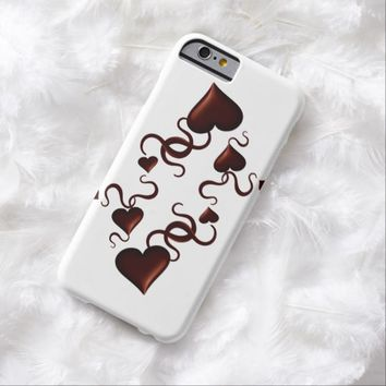 Hearts and ribbons barely there iPhone 6 case