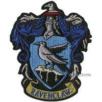 "Licensed cool Harry Potter Ravenclaw Bird Crest Embroidered IRON ON Patch Badge 3 1/2"" x 4"""