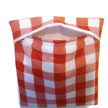 Red and White Gingham Microwave Potato Bag Large Size