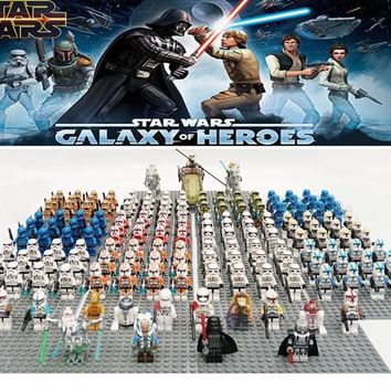 Star Wars Force Episode 1 2 3 4 5 20pcs/lot  Clone  Custom Clone Trooper Battle Droid  with Compatible legoe building block Kids minifigs toy AT_72_6
