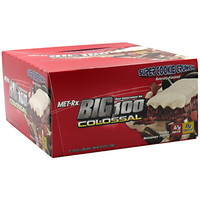 MET-Rx Big 100 Colossal Meal Replacement Bar Super Cookie Crunch 12