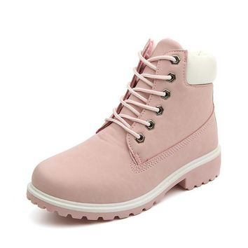 Round Toe Woman Work Boots