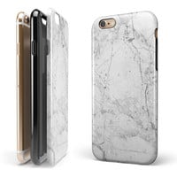 Cracked Marble Surface iPhone 6/6s or 6/6s Plus 2-Piece Hybrid INK-Fuzed Case
