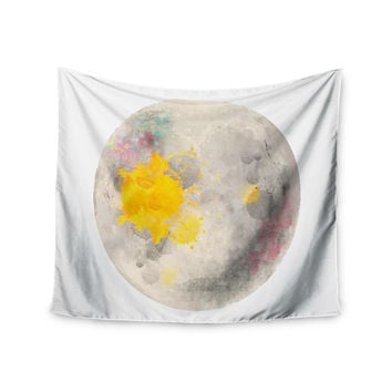 "Oriana Cordero  ""Moonlight"" Gray Yellow Wall Tapestry"