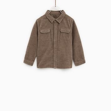 PLAIN CORDUROY SHIRT