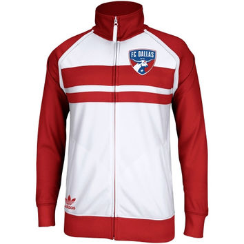 adidas FC Dallas Track Jacket - White/Red - http://www.shareasale.com/m-pr.cfm?merchantID=7124&userID=1042934&productID=540341926 / FC Dallas