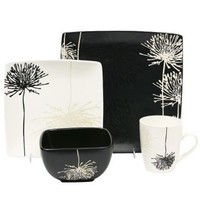 Baum Bros. Shadow Garden16pc Dinnerware Set for 4