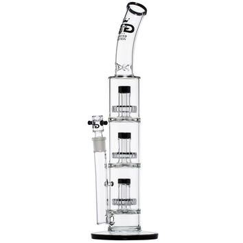 Grace Glass - Limited Edition Ice Bong with Triple Slit Diffuser Percs - Black